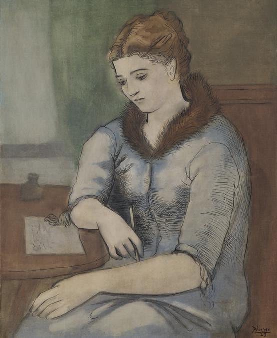 Pablo Picasso (1881-1973), La Lettre (La Réponse), oil on canvas, painted 16 April 1923