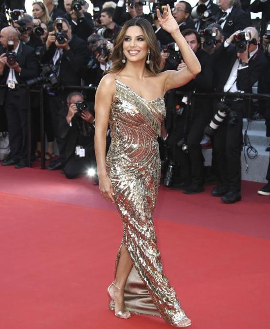 Eva Longoria in Cristina Ottaviano e gioielli de Grisogono