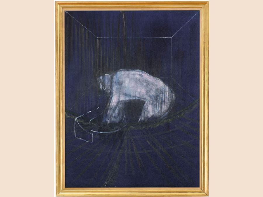 Francis Bacon (1909-1992) «Man at a Washbasin» olio su tela dipinto nel 1954 (circa). Venduto per  £5,109,450