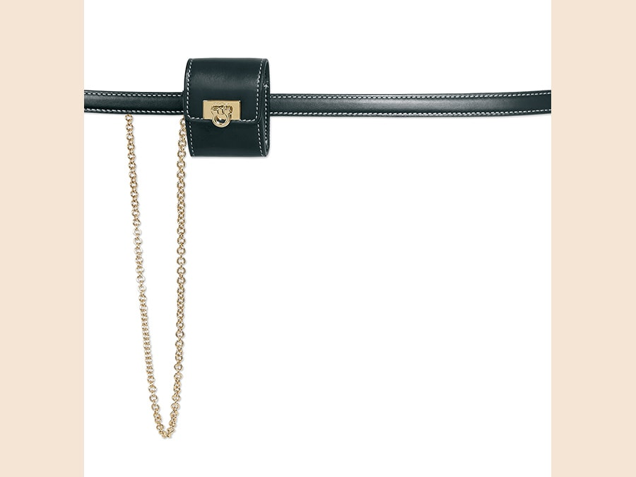 Belt bag con cintura e catena, Salvatore Ferragamo