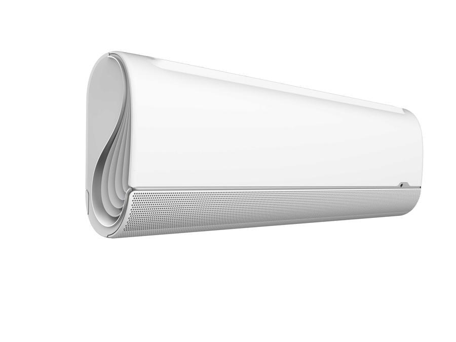 Midea, BreezeleSS, con Inverter Quattro ad elevata velocità di raffreddamento, A+++, con deflettori dotati di minuscole fessure che diffondono l'aria con ampio e omogeneo raffrescamento senza colpi d'aria e che possono essere regolati per avere direzioni diverse secondo le necessità. Con connessione WiFi
