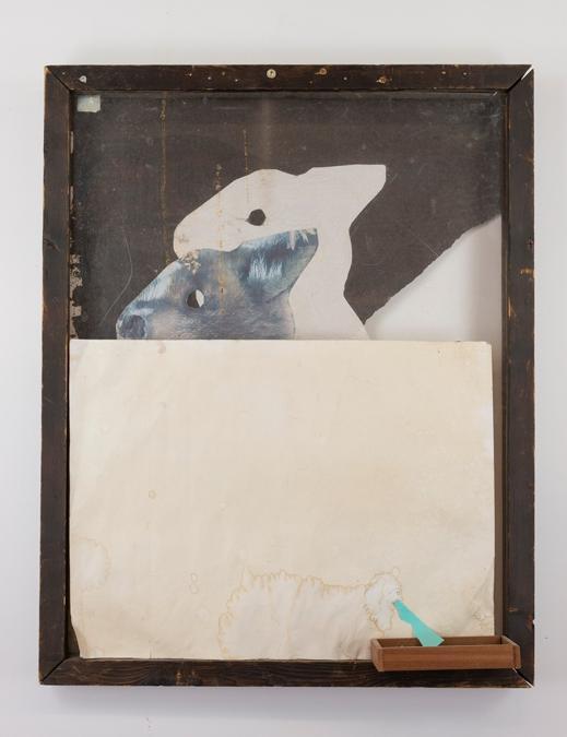 "Tt x AB. ""Untitled (Silence of the Lambs)"", 2019. Materiali vari.75x60cm. Galleria Emalin. 12.000 dollari"