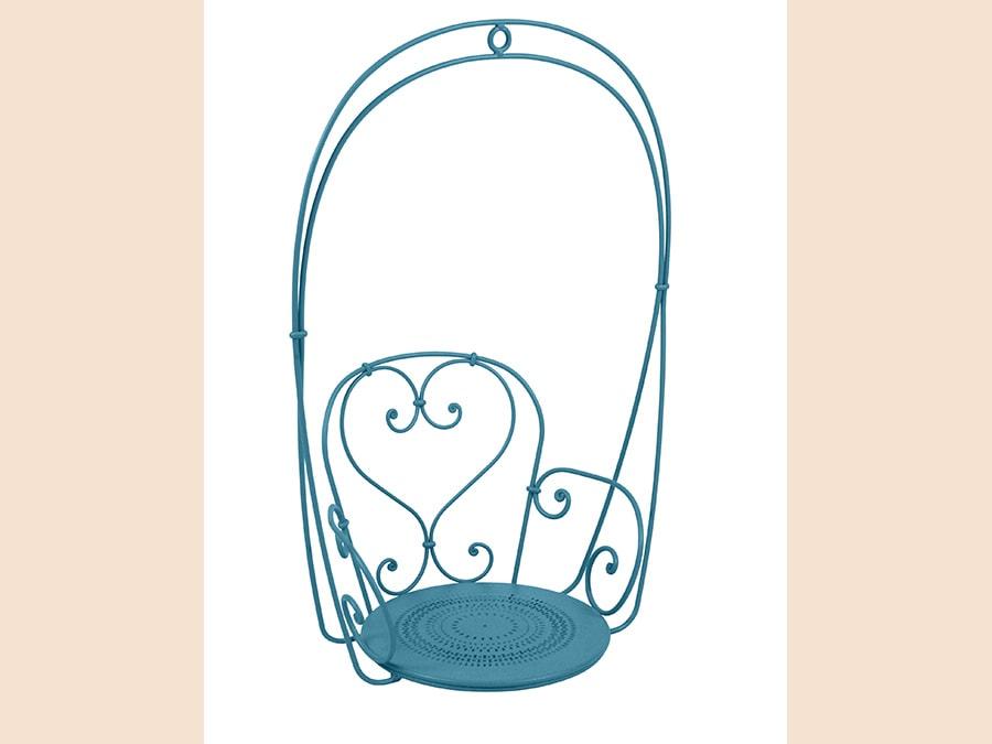 Fermob, sedia sospesa 1900. Poltroncina in acciaio forgiato a mano con design d'ispirazione belle époque. Disponibile in 26 diversi colori