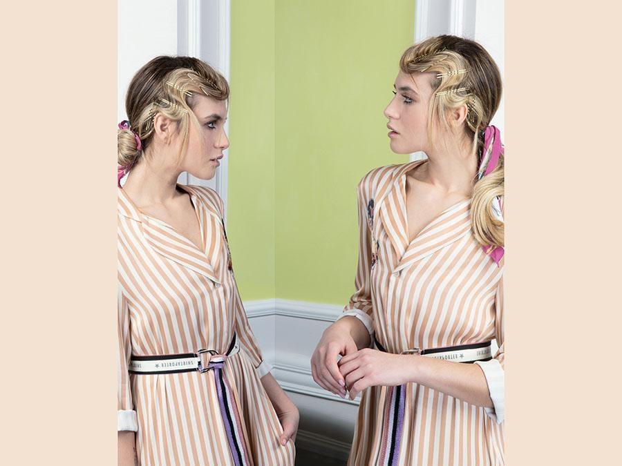 Compagnia della Bellezza, coda e chignon con mollettine chic per esaltare l'hair look