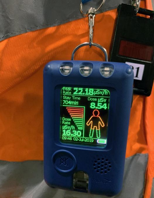 Le dosi di radioattività vengono costantemente monitorate