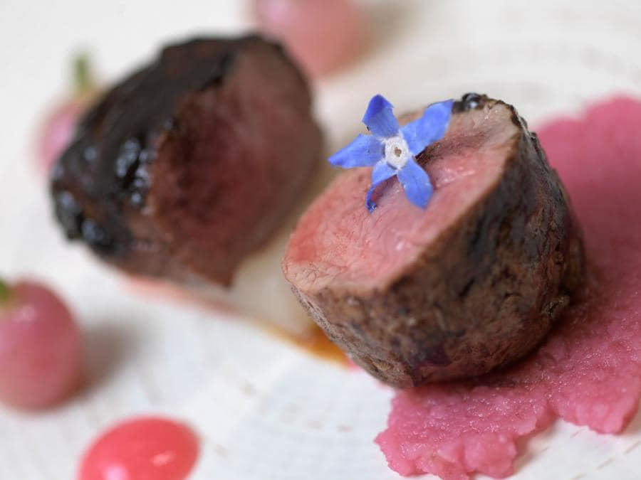 Un piatto dello chef Guy Martin (Photo by Miguel MEDINA / AFP)