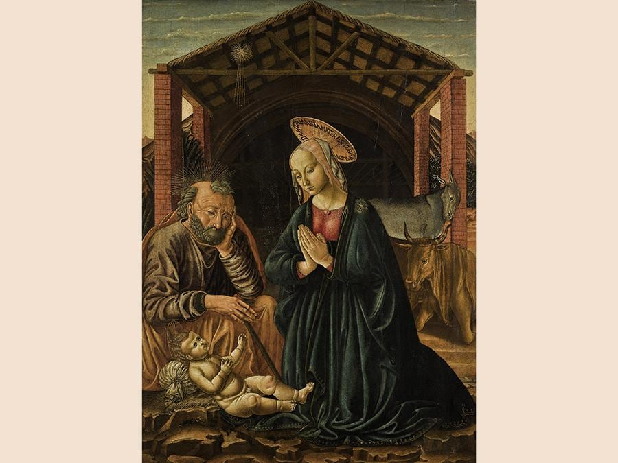 Benozzo Gozzoli, The Nativity, oil on panel, est. £150,000-200,000