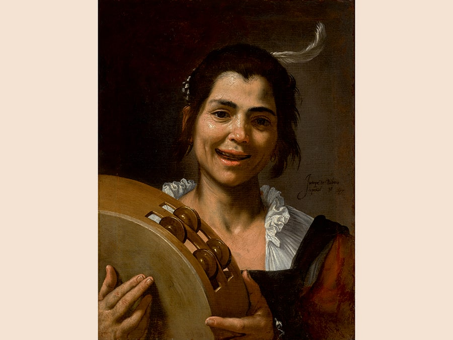 Jusepe de Ribera, Girl with a Tambourine, oil on canvas, est. £5,000,000-7,000,000