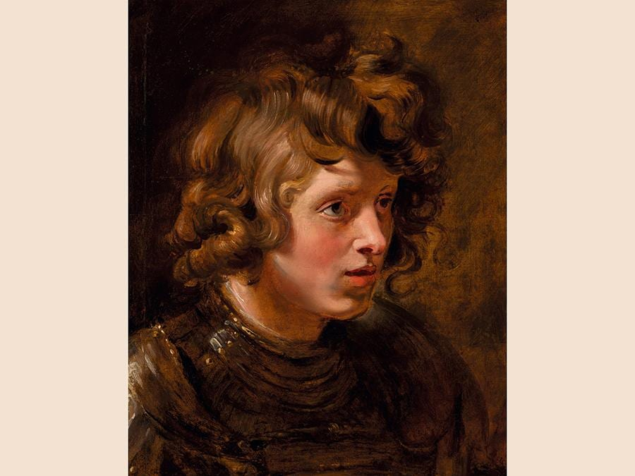 Peter Paul Rubens, Head of a Young Warrior, oil on oak panel, est.£2,000,000-3,000,000