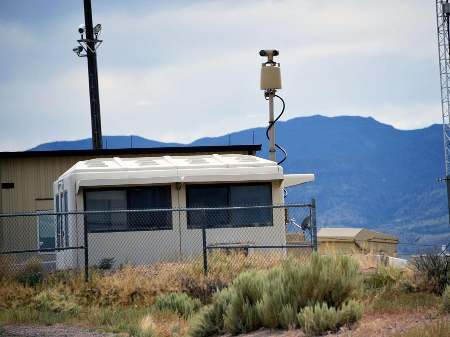 Rachel, Nevada, una telecamera a infrarossi all'interno dell'Area 51 (David Becker/Getty Images/AFP)