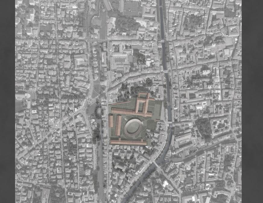 l rendering del Campus di Padova (2021-22), un intervento in un'area di 51mila mq (34mila di area verde e 17mila di area edificata) che integrerà aule didattiche, laboratori, sale studio, biblioteca, studi, uffici e spazi comuni; progetto al team guidato da Steam con David Chipperfield Architects