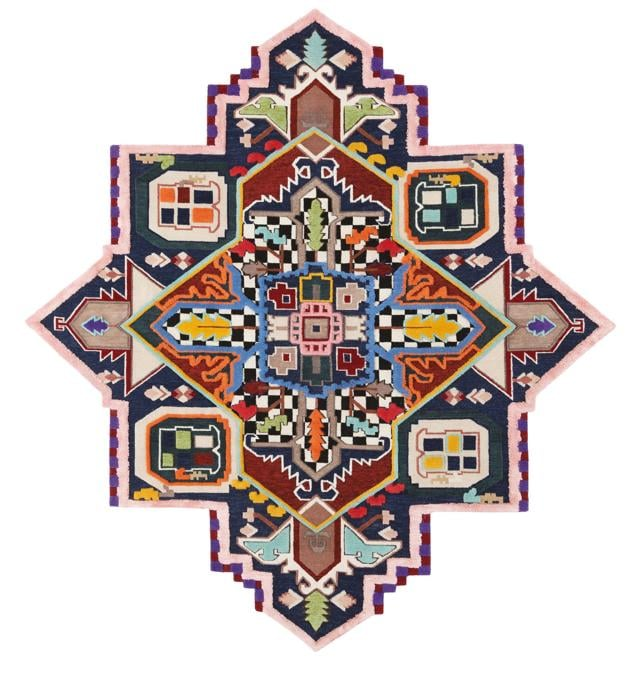 Tappeto Tabriz Destroyer della collezione Rug Invaders disegnata dal cc-tapis design lab