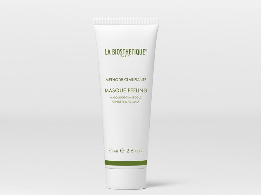 Masque Peeling di La Bioesthetique Paris, elimina le cellule morte, rendendo la pelle più liscia al tatto. La crema gel per il peeling si applica esercitando una leggera frizione, è adatta anche a tutti coloro che vorrebbero effettuare un peeling sulla zona T e/o sul mento