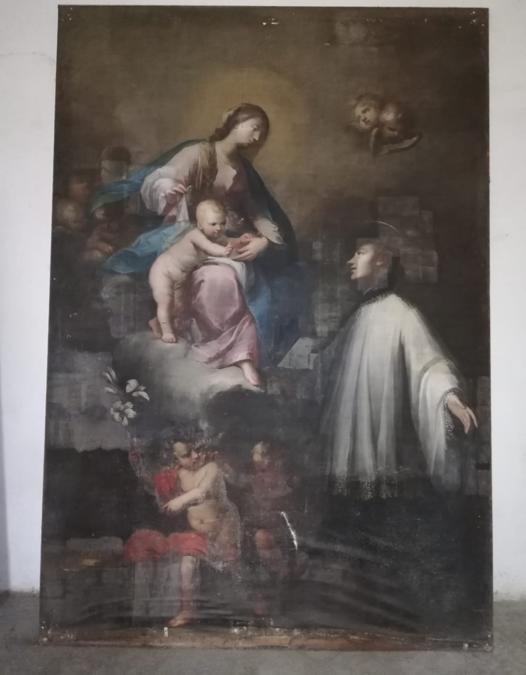 Gaetano Piattoli, Madonna col Bambino e San Luigi Gonzaga, tela, 1739 (Archivio Sabap Firenze)
