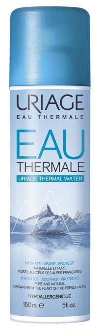 Eau Thermale Uriage, ricca di oligoelementi, si può usare quotidianamente ed è una vera fonte di benessere per la pelle (in farmacia)