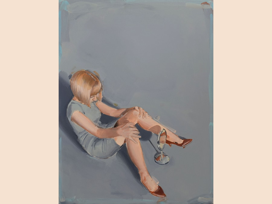 Omina Bassu Speleologa, 2019 Acrylic on canvas 80x60 cm Courtesy Courtesy Studio SALES di Norberto Ruggeri