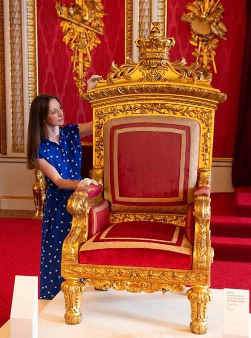 Il trono della regina Vittoria (credit Royal Collection Trust - Her Majesty Queen Elizabeth II 2019)