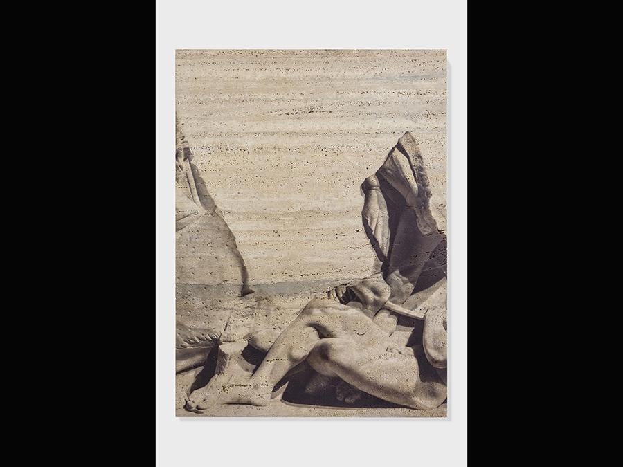 Elisa Sighicelli, 'Untitled (9015)' 2019, 100x74x4 cm. Stampa UV su travertino. Su concessione del Ministero per i Beni e le attività culturali -Museo Archeologico Nazionale di Napoli (foto di  Sebastiano Pellion di Persano)