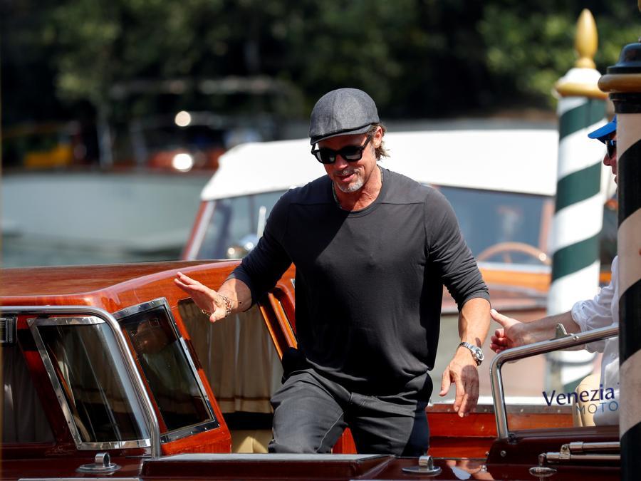 Brad Pitt arriva a Venezia per la presenzatione  del film «Ad Astra». (REUTERS/Yara Nardi)