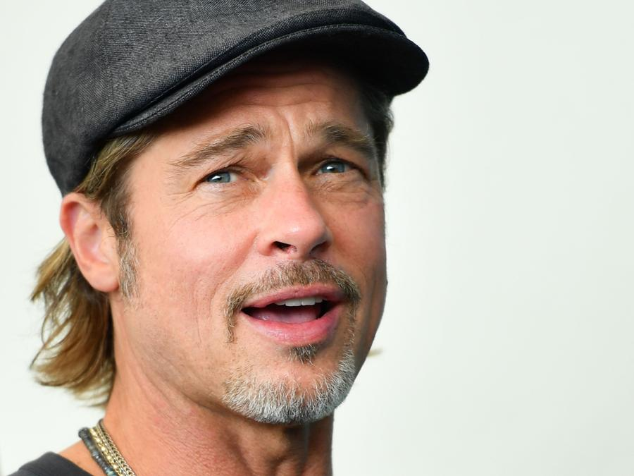 Brad Pitt . (Photo by Alberto PIZZOLI / AFP)