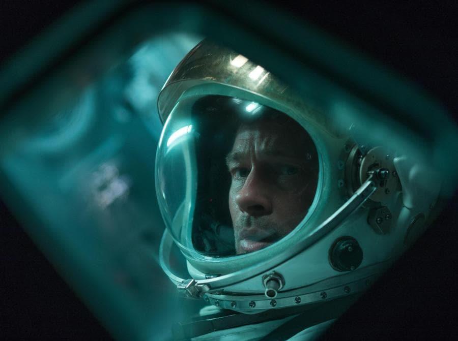 Un'immagine di scena del film «Ad Astra» con Brad Pitt presentato alla mostra del Cinema di Venezia. (ANSA/UFFICIO STAMPA)