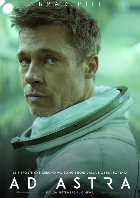 La locandina del film Ad Astra con Brad Pitt presentato alla mostra del Cinema di Venezia. (ANSA/UFFICIO STAMPA)