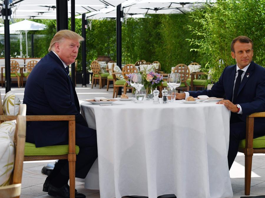Donald Trump, Emmanuel Macron (Afp)