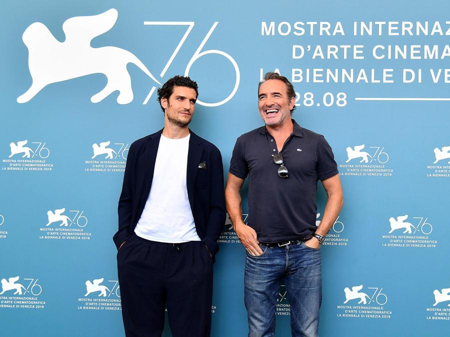 Jean Dujardin e Louis Garrel.( ANSA/ETTORE FERRARI)