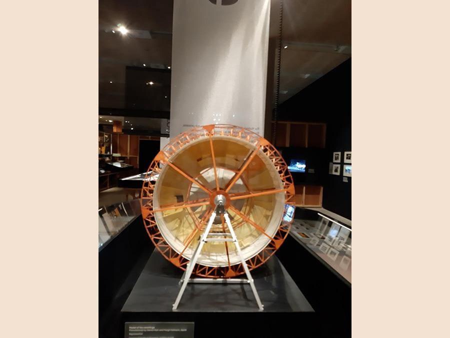 Modellino del set rotante per «2001:Odissea nello Spazio» (da girare di 180 gradi la foto)