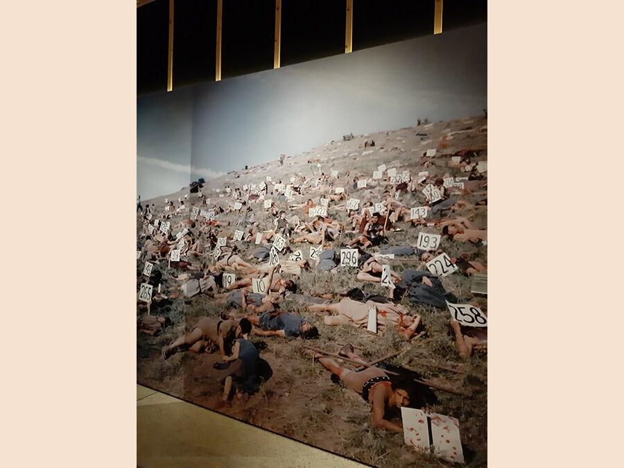 Foto di scena per una battaglia di «Spartacus»