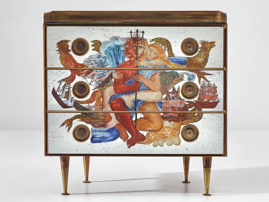 Cambi - Gio Ponti, Coppia di cassettoni 1951, stima 51.900-74.900, venduto a 545.200