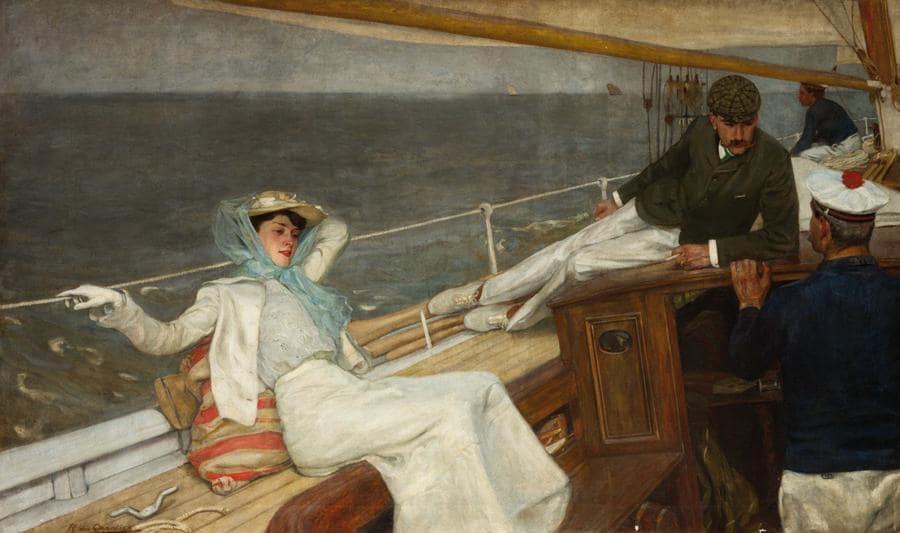 Wannenes - «Croisière» di Raoul Du Gardier (Wiesbaden 1871 – 1952) - olio su tela, cm. 148 x 247 - aggiudicato a € 272.800 - record mondiale per l'artista