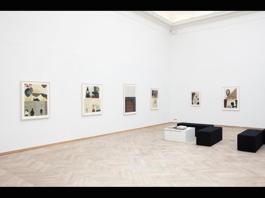 Le opere di Jockum Nordström allo stand di Magnus Karlsson a Chart 2019. La galleria Magnus Karlsson ha presentato nuove opere realizzate per la fiera da Jockum Nordström, artista danese ancora poco esposto nel suo paese. Di base a Stoccolma, classe 1963, Nordström realizza dipinti astratti con vari strati che diventano poi gli sfondi per le sue figure ritagliate. Per ogni opera l'artista realizza centinaia di figure e poi solo una piccola parte di esse viene utilizzata. I temi sono quelli delle strutture di potere e dell'abuso. I prezzi vanno da 30.000 a 50.000 euro. (Courtesy Magnus Karlsson)