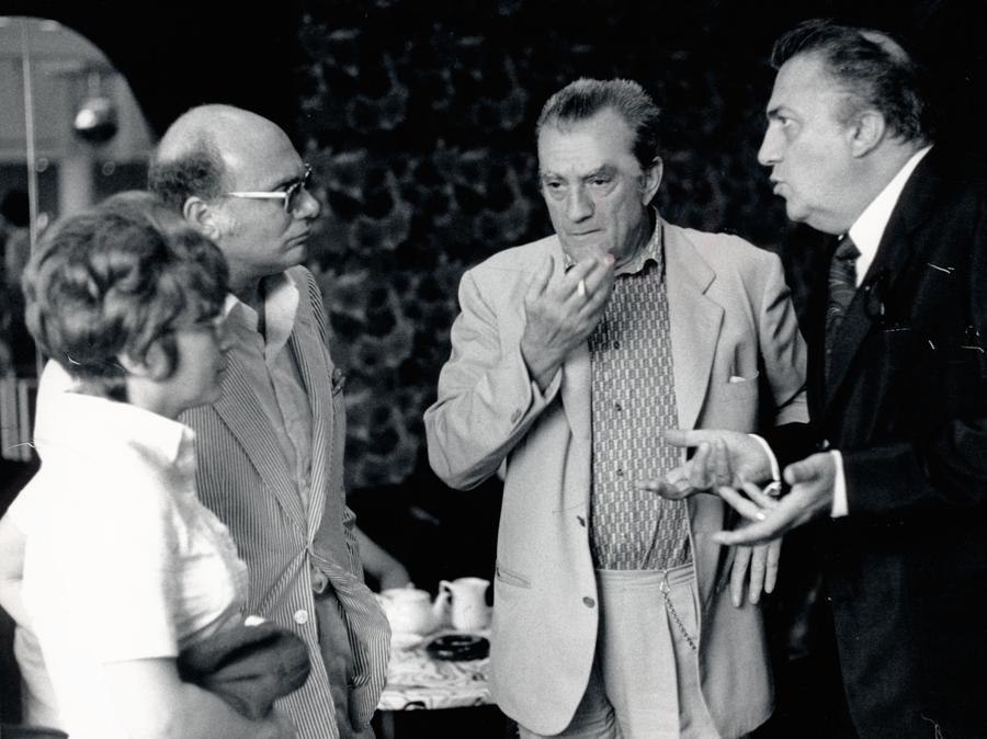Francesco Rosi, Federico Fellini, Luchino Visconti (Afp)