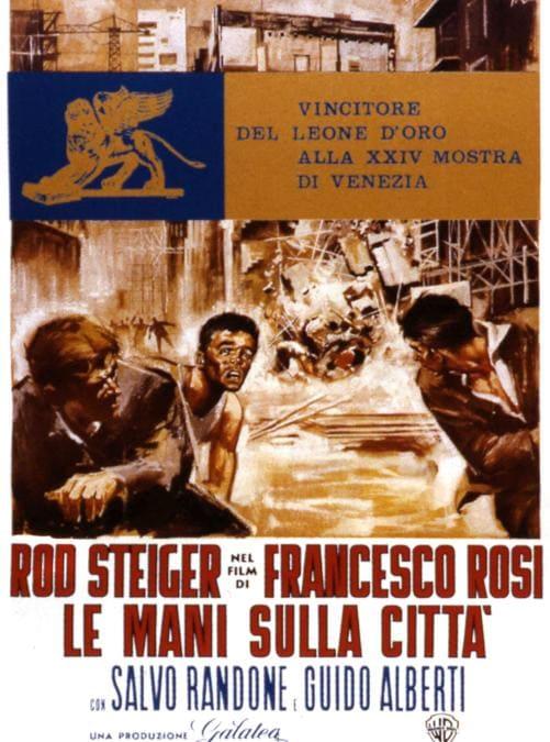 La locandina del film Le mani sulla città (1963) di Francesco Rosi (Afp)