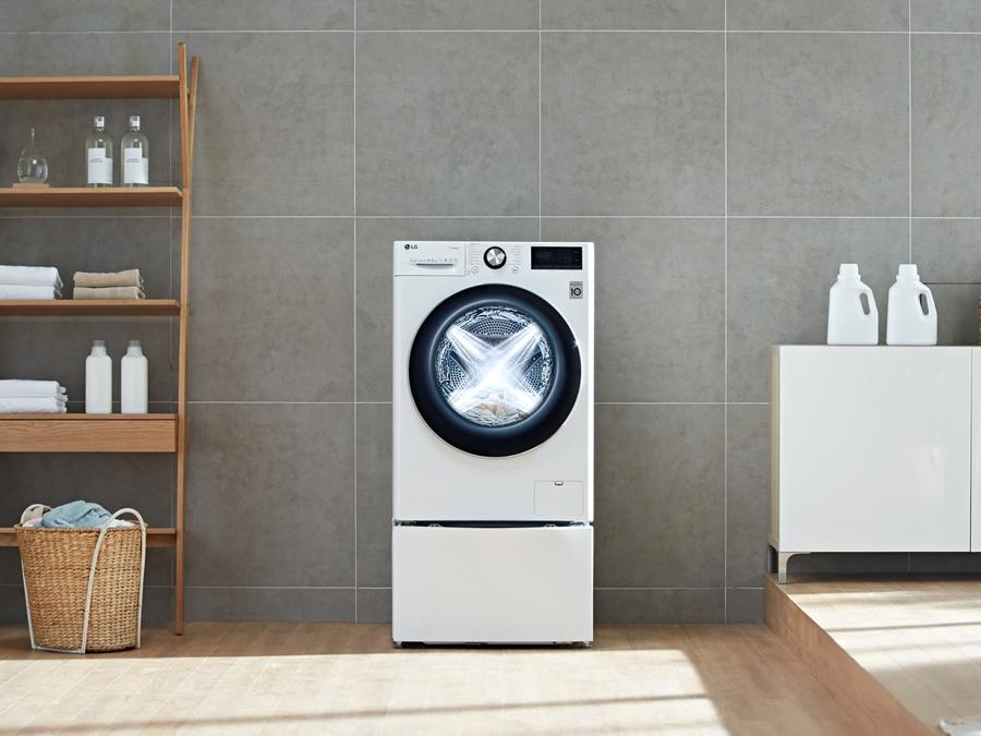 Lg AI DD Washing Machine, con il pulsante Dash, che riordina detersivi e additivi