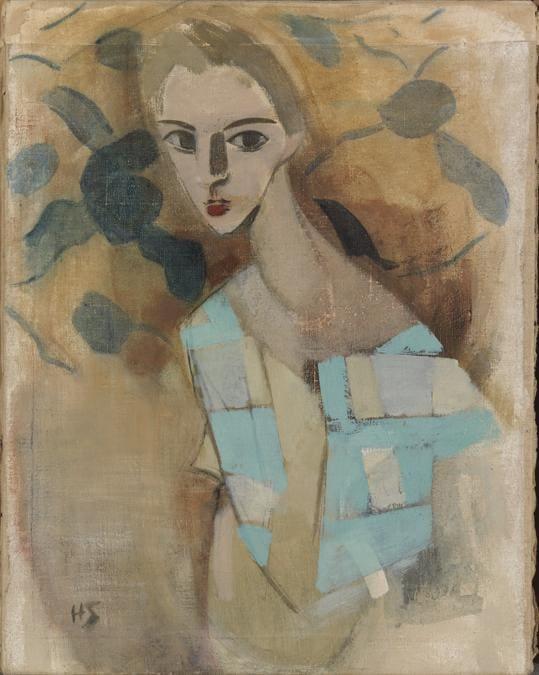 Helene Schjerfbeck, Girl from Eydtkuhne II, 1927. Oil on canvas, 70 x 54.5 cm. Yrjö and Nanny Kaunisto Collection. Finnish National Gallery / Ateneum Art Museum; photo: Hannu Aaltonen