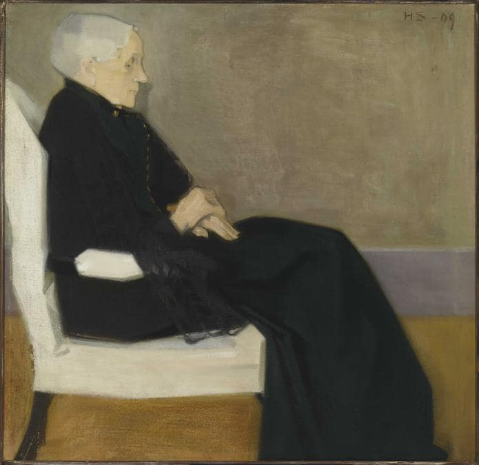 Helene Schjerfbeck, My Mother, 1909. Oil on canvas, 81 x 83 cm. Private collection; photo: Finnish National Gallery