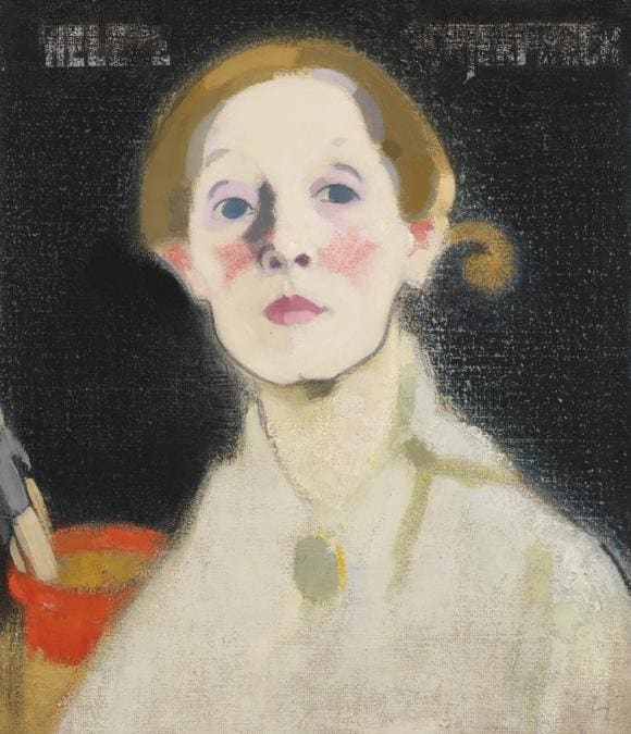 Helene Schjerfbeck, Self-portrait, Black Background, 1915. Oil on canvas, 45.5 x 36 cm. Herman and Elisabeth Hallonblad Collection. Finnish National Gallery / Ateneum Art Museum; photo: Yehia Eweis