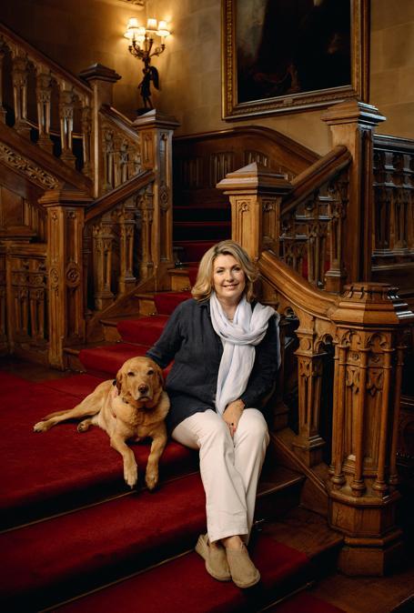 Lady Carnarvon, la proprietaria del castello