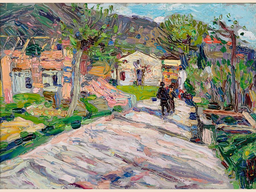 Wassily Kandinsky Via di Rapallo, olio su tavola, 1906. KUNSTBERATUNG Zurich AG