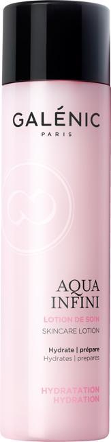 Galénic Aqua Infini Lozione di Trattamento, con Fleur de Rocher, una pianta miracolosa che trattiene anche la più piccola goccia d'acqua, acido ialuronico e glicerina vegetale (in farmacia)