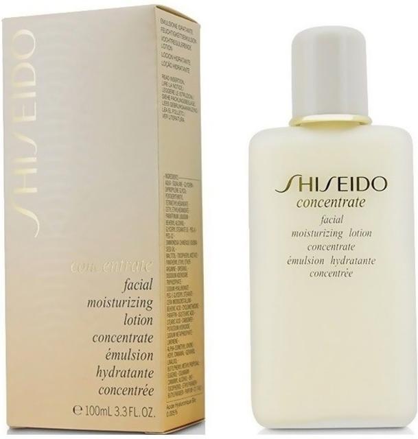 Shiseido Concentrate Facial Moisturing Lotion, emulsione idratante 24 ore. Ammorbidisce e addolcisce la pelle. Nutre e dona comfort anche alle pelli più secche tutto il giorno. Contiene Acido Bio Ialuronico, un potente umettante esclusivo di Shiseido