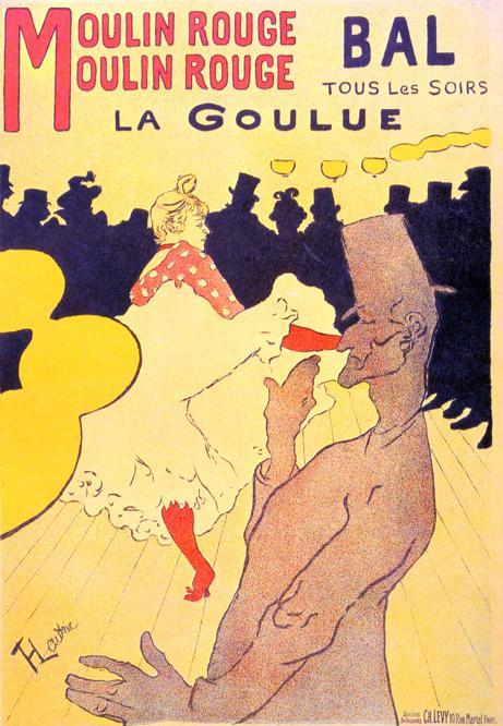 Henri de Toulouse Lautrec, manifesto per l'esibizione della «Golosa» al Moulin Rouge (1891)