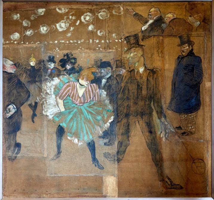 Henri de Toulouse-Lautrec, «Ballo al Moulin Rouge» (1895), Parigi, Museo d'Orsay