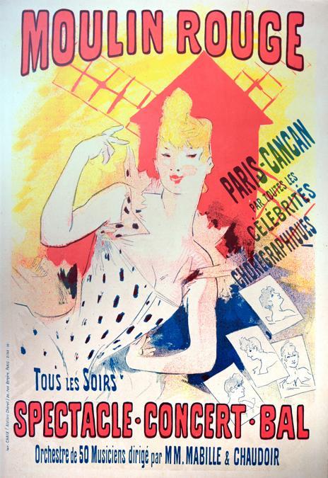 Manifesto per il Moulin Rouge realizzato da Jules Cheret  (1890)