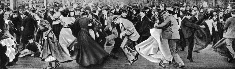 Ballo al Moulin Rouge nel 1900