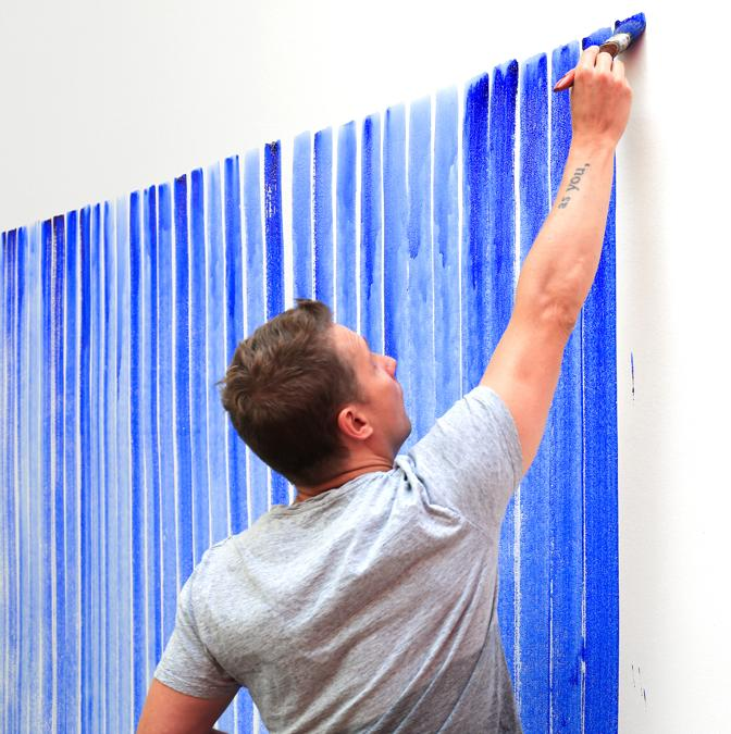 Breathing Watercolours. Jeppe Hein (photo by Hendrik Hähner / Studio Jeppe Hein -  courtesy Jeppe Hein)