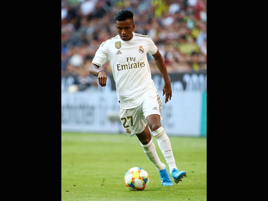 Il 18enne attaccante brasiliano Rodrygo Goes, acquistato dal Real Madrid, Nelle casse del Santos 45 milioni di euro. (Reuters)