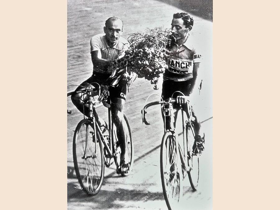 Fausto Coppi alla Milano-Sanremo del 1946 (ANSA/MUSEO DEI CAMPIONISSIMI)